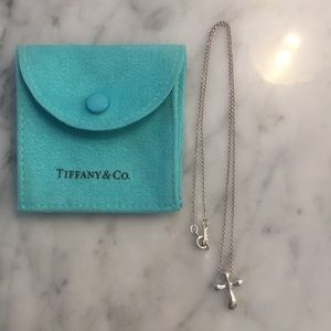 Authentic Elsa Peretti Tiffany cross pendant
